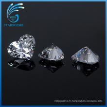Usine En Gros 5X5mm Coeur Forme Cubique Zircone Gemstones pour Bijoux