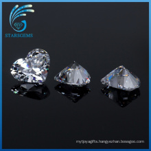 Factory Wholesale 5X5mm Heart Shape Cubic Zirconia Gemstones for Jewellery