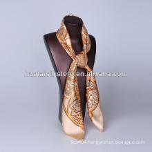 100 silk twill scarves 90x90cm