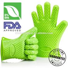 Custom Food Grade Heat Resistant Kitchen BBQ Gloves Silicone Mitt/Silicone Grill Oven BBQ Glove/Oven Mitt