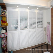 PVC Fauxwood Plantation Window Louver Shutters for French