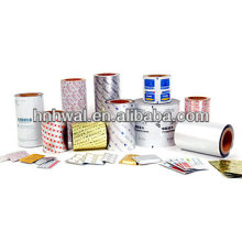 PTP blister aluminum foil for tablets packaging