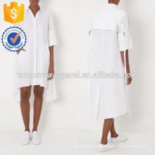 Neue Mode Weiße Baumwolle Übergroßen Shirt Kleid Herstellung Großhandel Mode Frauen Bekleidung (TA5288D)