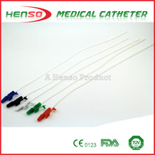 Cateter de sucção de controle de dedo descartable de PVC HENSO