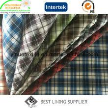 100% Polyester Check Futter für Herren Anzug
