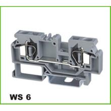 Gaiola de mola de trilho DIN do bloco de terminais 6mm2