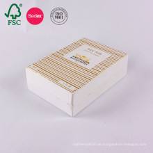 Kundenspezifische kosmetische leere Kunstpapierverpackungspapier-Geschenkbox
