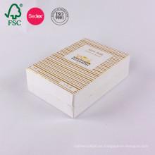 Caja de regalo de papel de empaquetado de papel de arte vacía cosmética personalizada
