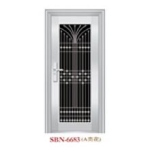 Porta / porta de aço inoxidável / porta de entrada / filho e mãe (6621)