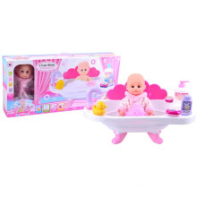12-Zoll-Kunststoff-schöne Baby-Puppe mit Badewanne (10233075)