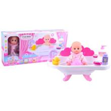 Petite poupée en plastique de 12 po avec baignoire (10233075)