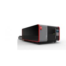 Máquina de corte a laser de folha de metal cnc de capa completa