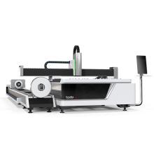 Jinan 1000w/1500w/2000w/4000w metal sheet and tube fiber laser cutting machine with 3 years warranty