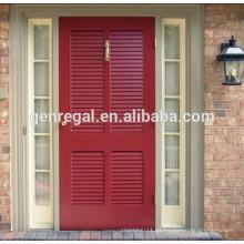 Puerta de madera maciza con persianas