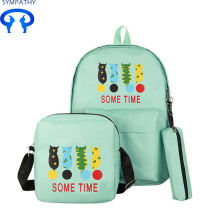 Cartoon Katze Design Rucksack College-Stil