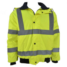 Flourescent green winter raincoat for men