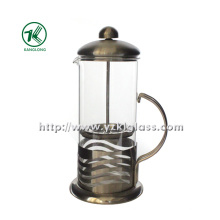 Glass Teapot with Stainless Steel (11*14*24)