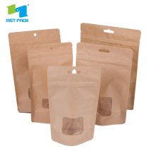 Compostable Stand Up Pouch con cerniera