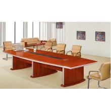 Mesa de reunión de la persona de la chapa 8 del MDF de encargo de la nuez del MDF