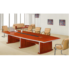 Custom Built Walnut MDF Veneer 8 Person Meeting Table