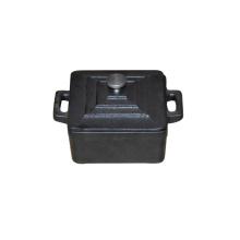 Mini cocotte en fonte, mini pot noir