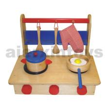Juguete plegable de madera de la cocina (81050)