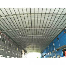 Large Span Low Cost Round Tube Steel Frame Building with C Section Purlin