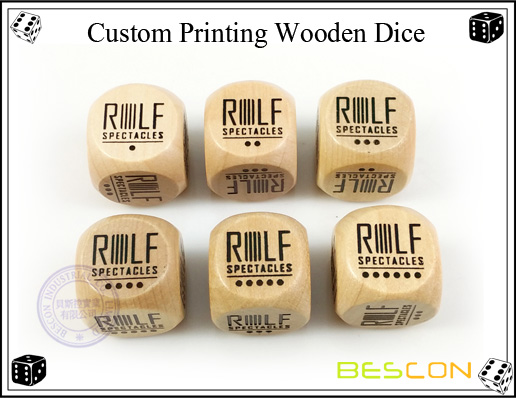 Custom Printing Wooden Dice