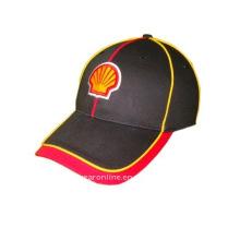 Stick-Sport-Cap mit gelben Paspeln