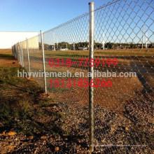 clôture galvanisée chaude de fil de diamant galvanisé de la clôture de lien de chaîne d'usine