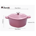 cast iron enamel cookware/heart casserole pot