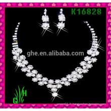 Le collier européen et américain, collier en gros de colliers en strass