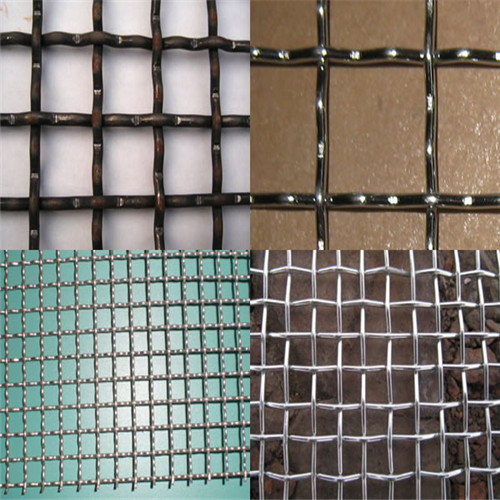 decorative woven wire mesh with an intermediate crimp