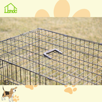 Utökad Metal Black Dog Cage For Home