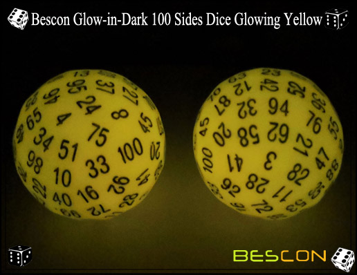 Bescon Glowing Yellow D100-3
