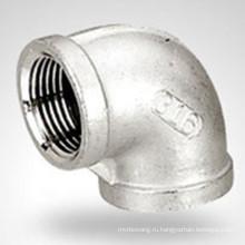 150 фунтов Bsp / NPT Резьбовая Гидравлическая Нержавеющая сталь 90 Elbow