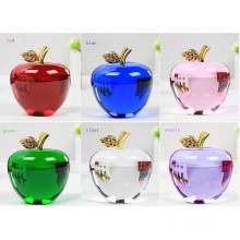 Crystal Apple in Carving Crafts Decoration Crystal Apple