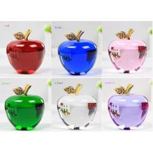 Maçã de cristal na escultura de artesanato Decoração de cristal da Apple