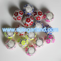 5.5MM Large Hole Metal Gallery Beads Oil Drop Big Hole Spacer Beads Charms