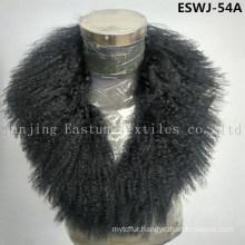 Long Pile Natural Mongolian Fur Scarf Eswj-54A