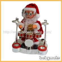 """8"""" Playing The Drums Santa Claus"""