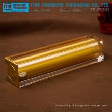 Bomba loção 50ml ZB-PK50 de boa qualidade de imprensa mal ventilado cosmético camadas quadrado dobro garrafas 50ml