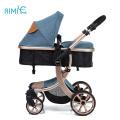 Aimile blue high view carrinho de bebê para meninos