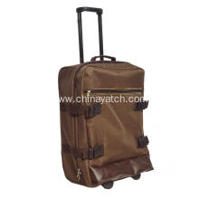 600D PVC Brown Soft Trolley Case