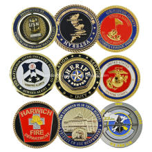 Custom Design Logo US Soft Enamel Challenge Coin