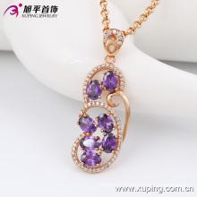 Moda elegante agradável-qualidade mulheres jóias de ouro liga colar de corrente com diamante -42881