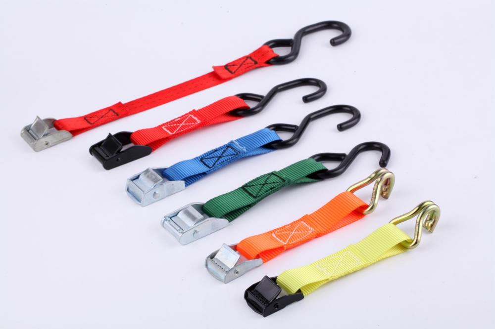 400Kgs Red Webbing Cam Buckle Strap
