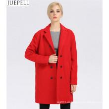 Abrigo de invierno de lana largo de mujer Abrigo de invierno de lana de mujer
