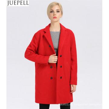 Frauen Wintermantel Frauen Fashion Long Wolle Wintermantel