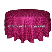 Gorgeous satin rose table cloth for wedding
